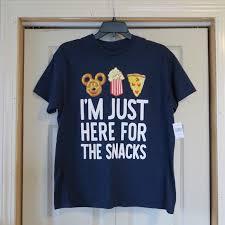 Kids Youth Disney Snacks T Shirt Nwt