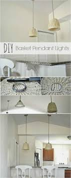 diy low cost basket pendant lights