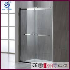 bathroom double bypass sliding glass shower doors 1400mm width 2 way sliding high