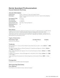Resume Examples For Dental Assistants Inspiration Dental Assistant Resumes Example Of Dental Assistant Resume Example