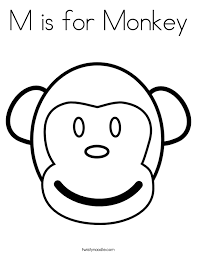 Small Picture M is for Monkey Coloring Page Twisty Noodle