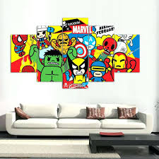 marvel wall art 5 panels canvas prints marvel artwork canvas painting poster home decor fashion wall