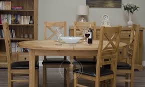 Coniston Rustic Solid Oak Oval Extending Dining Table Oak