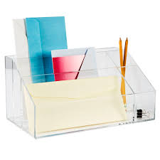 clear office desk. 4 Section Office Stand Box Acrylic Stationery Collection Clear For Desk Organizer Plan