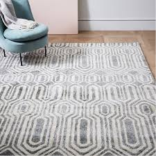 geo stripe rug platinum