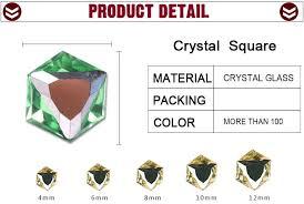 <b>ZHUBI</b> Faceted <b>Glass</b> Square Cut Beads 6MM <b>Crystal</b> Clear No ...