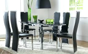 glass dining sets 6 chairs 6 chair dining set extending black glass dining table and 6