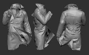 How To Design A Coat Artstation Creating A Trench Coat Using Marvelous Designer