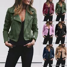 2019 7 colour s 5xl plus size oversize women las leather jacket coats zip up biker flight casual top coat outwear from ping9 17 0 dhgate com