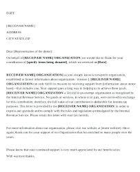 Letter Of Agreement Samples Template Impressive Sample Donation Letters Templates Non Profit Acceptance Letter