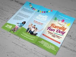Fun Brochure Templates Family Fun Day Trifold Brochures