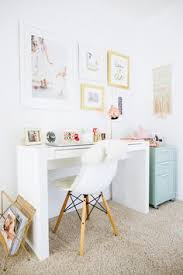 bright office. beautiful bright bright and cheery home office with white parsons desk mint filling  cabinet and office