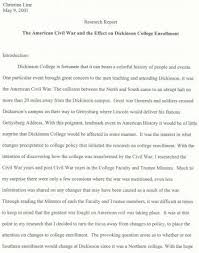 the american civil war and the effect on dickinson college   the american civil war and the effect on dickinson college enrollment by christine line