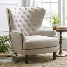 Accent Wingback Chairs Wingback Chairs With Pillow Upholstered Wing Back Transitional