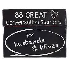 88 Great Conversation Starters For Husbands And Wives Romantic Card Game For Married Couples Christian Adult Games Communication Marriage