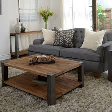 garage trendy wood living room table 2 furniture side tables cocktail and end round coffee