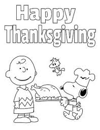 A Charlie Brown Thanksgiving Activity Packet Coloring Pages