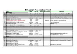Mabani Steel Hr Action Plan 1