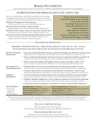 Business Management Sample Resumes Infinite Include Operations