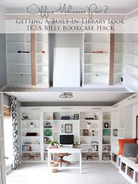 ikea office makeover. Office Makeover Part 2 | IKEA Billy Hack Built-in Bookcases Ikea