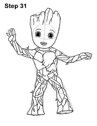 Small Picture Baby Groot Guardians Of The Galaxy Draw It Too Coloring Coloring