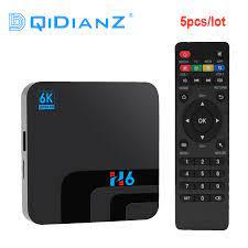 5pcs/lot Android 9.0 H6 TV BOX Smart 6K Ultra HD 4G 32G Movie TV Receiver  WIFI Google Cast Media Player Set top Box 2.4G WIFI|Set-top Boxes