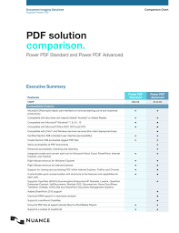 Pdf Feature Comparison Matrix Manualzz Com