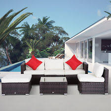 porch furniture sale. Exellent Sale Outsunny 6pc Patio Furniture Rattan Wicker Sofa Outdoor Garden Sectional  Couch Throughout Porch Sale E