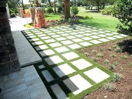 laying concrete pavers on grass plastic grass new patio s installing concrete s laying concrete pavers