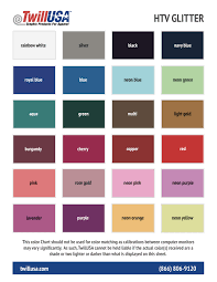 Dazzle Dry Color Chart
