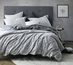 grey flannel duvet cover queen softest oversized gray to 2