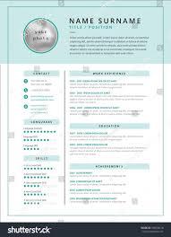 Medical Cv Resume Template Example Design Stock Vector 786630418
