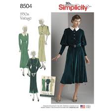Vintage Simplicity Patterns Beauteous Simplicity Pattern 48 Misses' Vintage Dress Sewing Patterns From