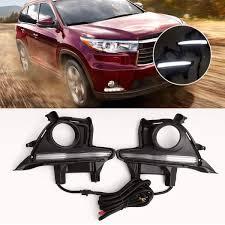 2017 Highlander Fog Light Amazon Com Yise N109 1pair Car 12v Dc Led Drl Daytime