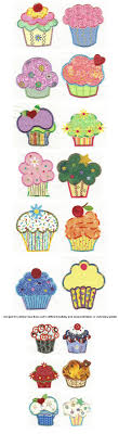 Cupcake Machine Embroidery Designs Embroidery Free Machine Cute As A Cupcake Applique