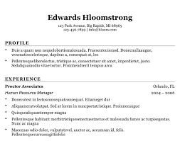 Basic Resumes Templates