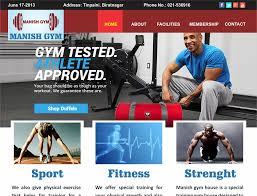 gym website design creative zone graphics we provide graphic design website design