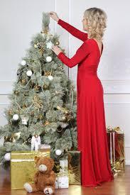 Woman Christmas Tree Dress Isolated On Stock Photo 334064636 Girls Christmas Tree Dress