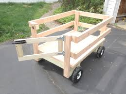 diy wooden wagon utility cart with gate and simple wagon steering