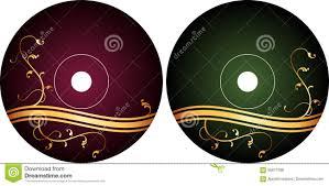 Cd Dvd Label Design Template Stock Vector Illustration