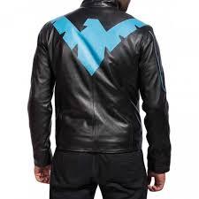 nightwing grayson men s black leather jacket men s leather jacket