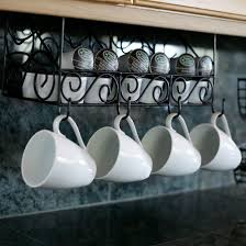 Coffee Cup Rack Under Cabinet Under Cabinet Coffee Cup Holder Coffetable