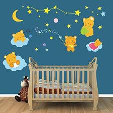 decalmile stickers muraux pour chambre bébé ours mignons autocollants mural enfants garderie décoration murale