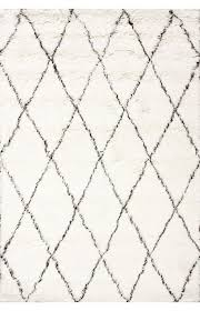 Tuscan Moroccan Shag Ivory Rug  Contemporary Rugs