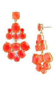 kate spade yellow chandelier earrings spade chandelier earrings in silver clear silver view larger home depot