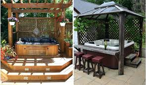 Hot Tub Backyard Ideas Plans Unique Design