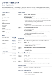 Sample Resume For Flight Attendant Flight Attendant Resume Sample Guide With Skills More