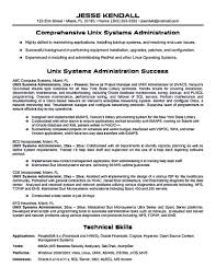 Unix System Administration Sample Resume 1 3 Administrator
