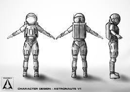 Astronaut Character Design Artstation My First Character Creation Astronaut