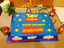 Toy Story Theme Cake For My Sons 3rd B Day We Got Vanilla And It